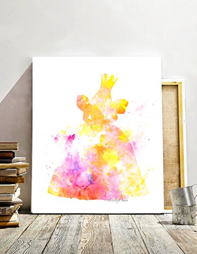 Glenda the Good Witch, The Wizard of Oz Inspired Digital Print, Watercolor Painting Effect, Illustration, Nursery Decor, 8 X 10 Unframed -