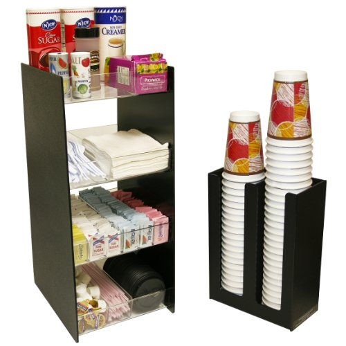 Coffee Organizer and a Cup Lid Holder Combo... Great for K-Cups, Sugars and More!. Only 15'' Wide and 24'' High. Made in the USA! only by PPM. by PPM