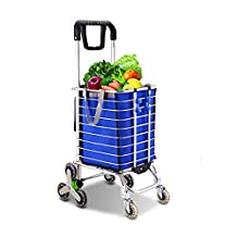 HCC& Trolley Dolly Climb the stairs Collapsible Portable Shopping Cart High capacity Groceries car Rolling Swivel Wheels