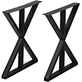 Metal Furniture Legs Industrial Dining Table Legs,Metal Legs for DIY Coffee Table Furniture Bench,Black Cast Iron Coffee Tabl