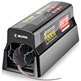 Ebung Electric Mouse Trap & Rat, Rodent, Chipmunk Zapper That Work— Instant & Humane Rodent Mice Killer – Powerful 7000 V Electrical Beam – Mess-Free Operation – Works Safe & Durable