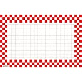 Retail Price Sign Sign Cards White Cards With Red Checkerboard Border - 11'' L x 7'' H 100 Per Pack