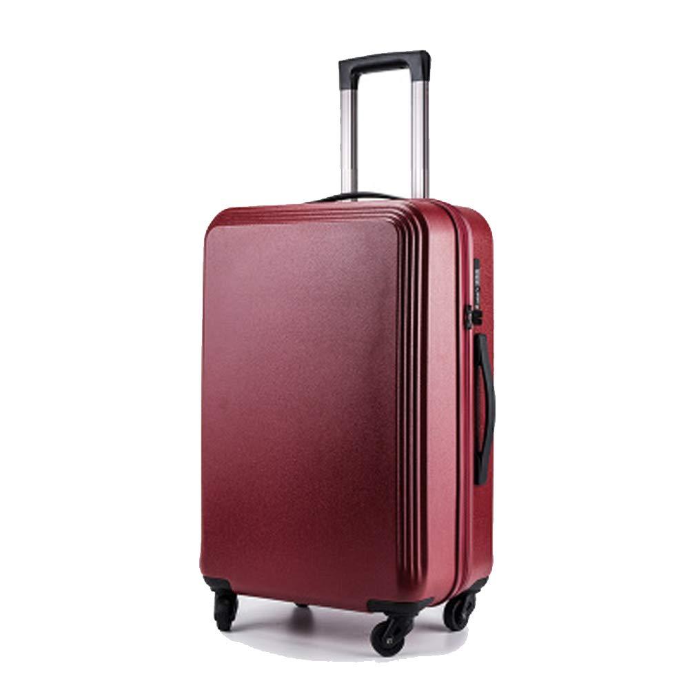 荷物、トロリーケース、万能車輪牽引ボックス、スーツケース、男性と女性のためのスーツケース、搭乗バッグ、 Small Redwine2 B07QTQ8D7S