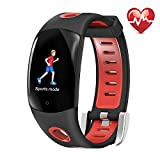 Fitness Tracker HR, Continuous Heart Rate Monitoring Watch, IP68 Waterproof Smart Wristband 3D Color Dynamic UI,Multiple Sports Modes Remote Camera Pedometer Sleep Monitor for Kids Women Men