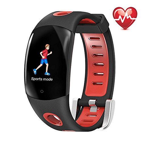 Fitness Tracker HR, Continuous Heart Rate Monitoring Watch, IP68 Waterproof Smart Wristband 3D Color Dynamic UI,Multiple Sports Modes Remote Camera Pedometer Sleep Monitor for Kids Women Men by CYGG