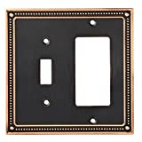 Franklin Brass W35063-VBC-C Classic Beaded Switch/Decorator Wall Plate/Switch Plate/Cover, Bronze with Copper Highlights