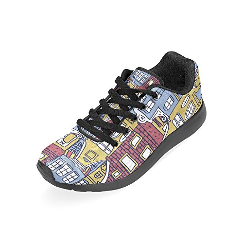 InterestPrint Womens Jogging Running Sneaker Lightweight Go Easy Walking Comfort Sports Athletic Shoes Multi 4 9swtmNa