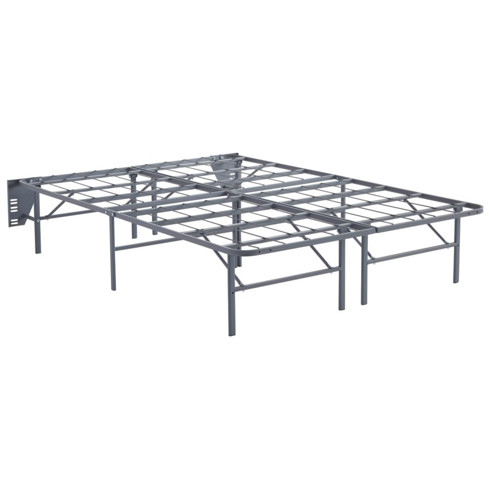 Ashley Furniture Signature Design - Better Than a Boxspring Mattress Riser - Under Bed Storage Space - Full - Gray