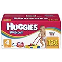 Huggies Snug & Dry Diapers, Size 4, 150-Count