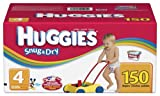 Huggies Snug and Dry Diapers, Size 4, 150-Count, Health Care Stuffs