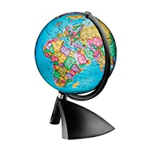 "6"" Illuminated World Globe - Battery Operated, 15cm Diameter By Replogle, Globemaster"
