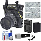 DiCAPac WP-S5 Waterproof Case for Compact DSLR Cameras with NP-W126S Battery/Charger + LED Torch + Kit for Fuji X-PRO2, X-T1, X-T10, X-T2, X-T20