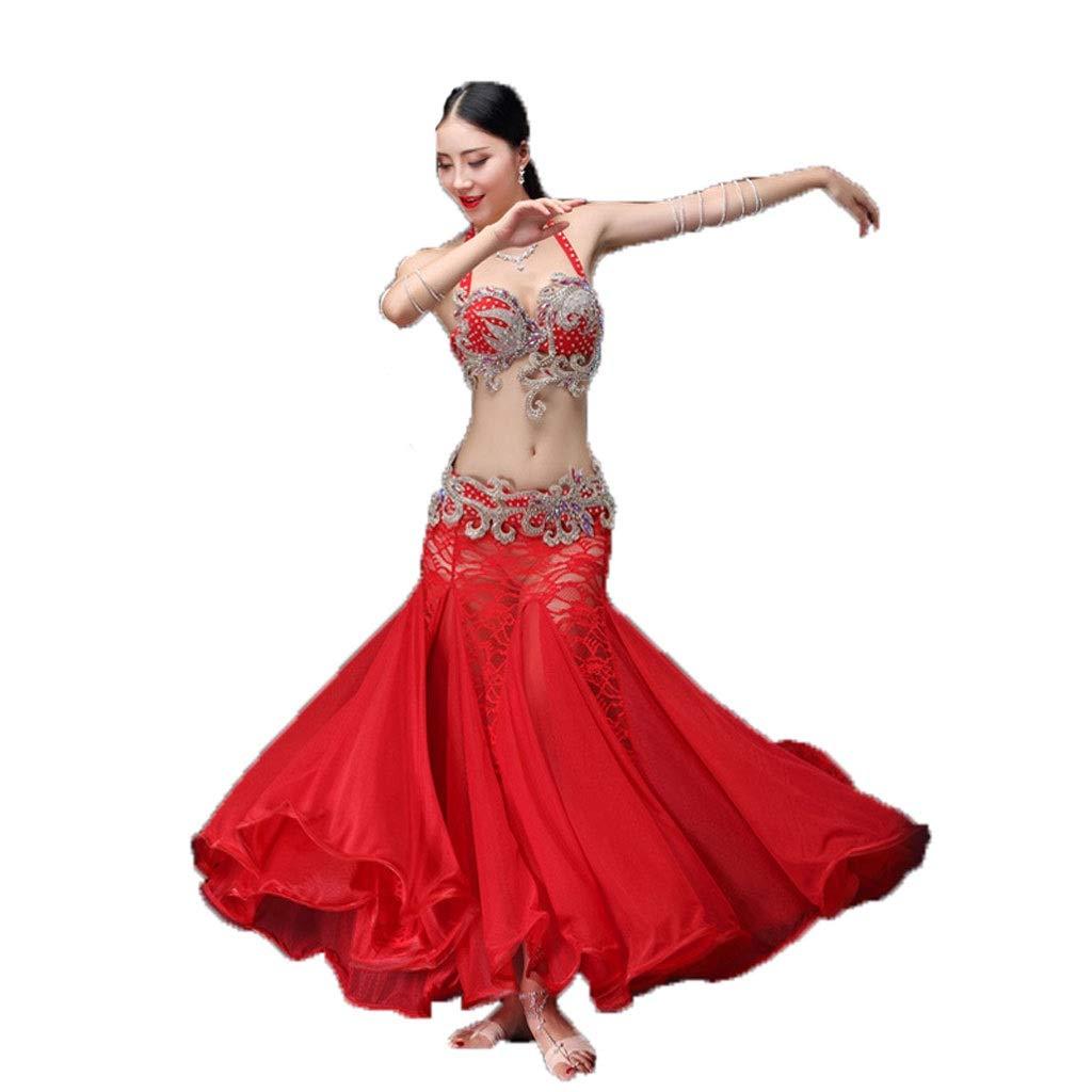 2019激安通販 ベリーダンスの衣装の女性の大人の長いスカートのスーツスリーピースのパフォーマンスの服 B07PFGXKZF B07PFGXKZF S s s|レッド レッド S S s, H and I:8dfe9aa3 --- a0267596.xsph.ru
