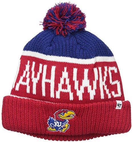 '47 NCAA Kansas Jayhawks Calgary Cuff Knit Hat, One Size, Royal