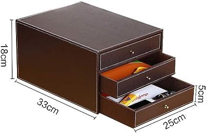 Caja de almacenamiento para documentos de oficina (25 x 33 x 24,5 ...