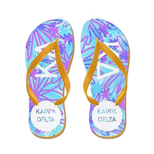 Cafepress Kappa Delta Tropical Purple - Infradito, Divertenti Sandali Infradito, Sandali Da Spiaggia Arancio