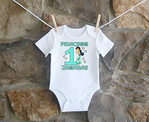 Jasmine Birthday Shirt, Jasmine Birthday Shirt For Girls, Personalized Girls Jasmine Birthday Shirt, Customized Jasmine Birthday Shirt by Lil Lady Treasures