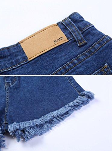 A Alla Delle Jeans Alta Di Moda Aderenti Pantaloncini Casual Denim Hot Sexy In Lihaer E Vita Shorts Blu Pants Estate Di Donne SwgHPB