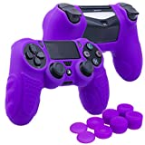 xbox elite cooling fan - YoRHa Perfect Grip No Smell Silicone Cover Skin Case for Sony PS4/slim/Pro controller x 1(purple) With Pro thumb grips x 8