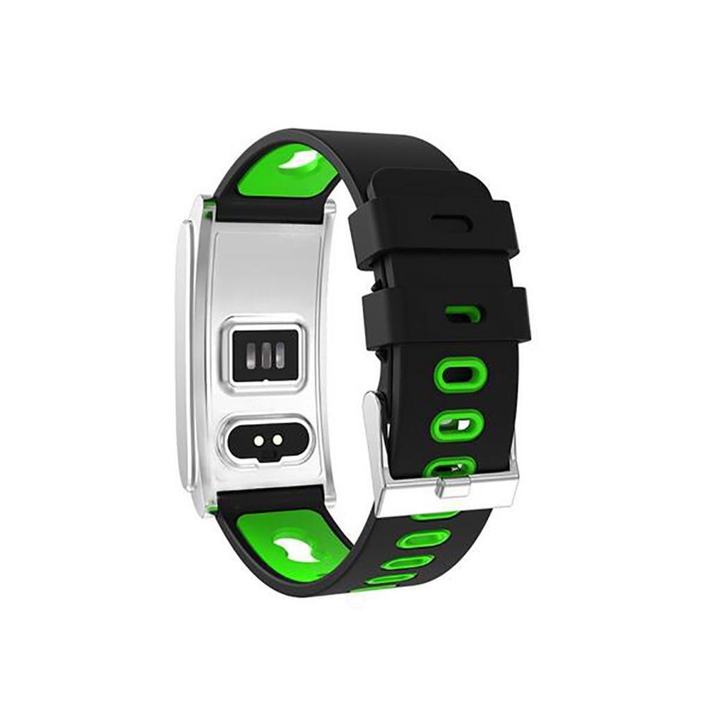 Vert  LL-intelligent Bracelet Podomètre Fitness Tracker Tensiomètre Oxygène Moniteur de Sommeil