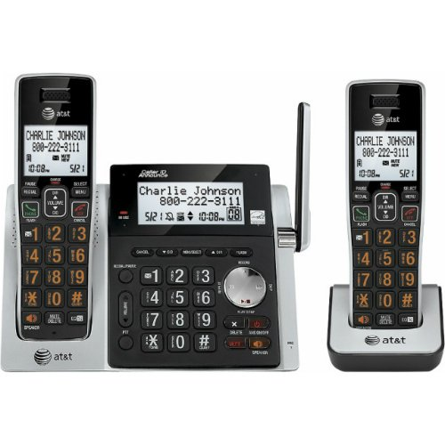 - AT&T CL83213 DECT 6.0 Cordless Phone - Cordless - 1 x Phone Line - 1 x Handset - Speakerphone - Answering Machine - Caller ID - Yes