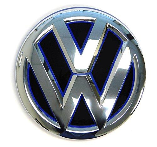 Genuine OEM VW Emblem Jetta Hybrid 2015 2016 2017 MK6 Blue Trim Front Grille Badge 5C6853601FAFL