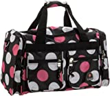 Rockland Luggage 19 Inch Tote Bag, Multi Pink Dots, One Size