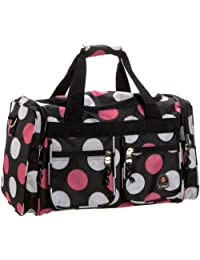 Rockland Luggage Tote Bag, Multi Pink Dots, 19-Inch