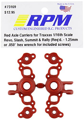 RPM 73169 Axle Carriers Red 1 16 Traxxas Red