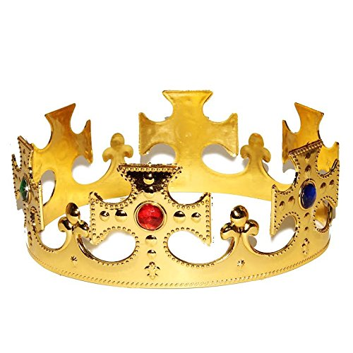 [Dazzling Toys One Size Majestic Regal Crown For Costume, Dress-up or Anytime. Set of 2.] (Anytime Costumes)
