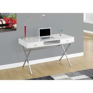 Monarch Specialties I 7211 Chrome Metal Computer Desk 48