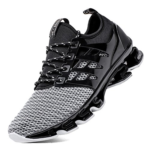 Wu wei bin Mens Road Running Shoes Mesh Breathable Sneakers Lightweight Fashion Sports Gym Athletic Shoes