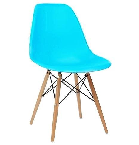 Fine Bravich Blue Como Eiffel Dining Chair Plastic Wooden Leg Andrewgaddart Wooden Chair Designs For Living Room Andrewgaddartcom