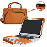 """Acer Chromebook 14 Case,2 in 1 Accurately Designed Protective PU Leather Cover + Portable Carrying Bag For 14"""" Acer Chromebook 14 CB3-431 series Laptop(Not fit CP5-471 series),Brown"""