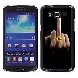 - Freaky Funny Pattern kidding - - Hard Plastic Protective Aluminum Back Case Skin Cover FOR Samsung GALAXY Grand 2 g7106 g7108v g7109 Queen Pattern