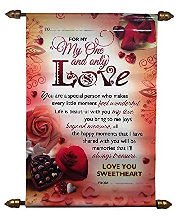 Velour Shoppe Valentines Day Gift Greeting Card Love Scroll