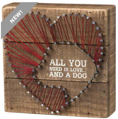 Primitives by Kathy String Art - All You Need is Love and a Dog
