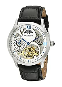 Stuhrling Original Men's 571.33152 Special Reserve Automatic Skeleton Watch with Black Leather Band