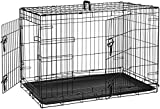 AmazonBasics Double-Door Folding Metal Dog Crate – 36 Inches For Sale