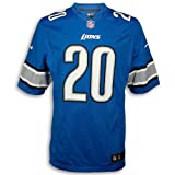 Barry Sanders Detroit Lions New Blue Game Replica Jersey (Large)