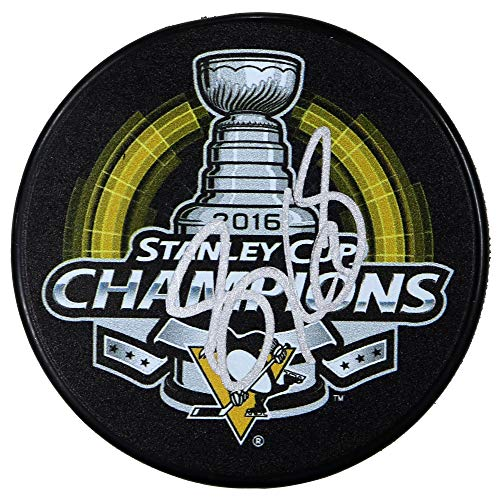 Sidney Crosby Pittsburgh Penguins Signed Autographed 2016 Stanley Cup Champions Hockey Puck COA ()