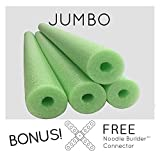 4 Pack Oodles Monster 55 Inch x 3.5 Inch Jumbo Swimming Pool Noodle Foam Multi-Purpose Lime Green
