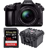 PANASONIC LUMIX G85 4K Mirrorless Camera with 12-60mm Power + SanDisk 128GB Extreme PRO & Waterproof Hardcase