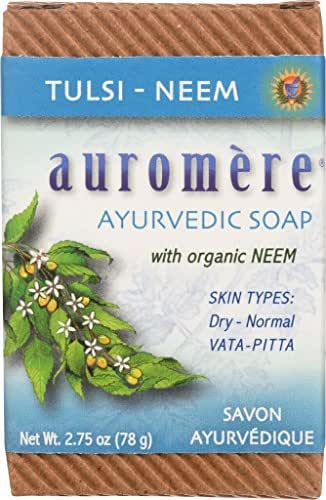 Soap-Tulsi-Neem Auromere Ayurvedic Products 2.75 oz. Bar Soap