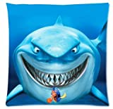 Ackershop pattern- Shark Kawai Ocean Creature pillowcase 18 X 18 inch Zippered Throw pillow cover one-side printing Plush fabrics (custom Personalized pillowcase)