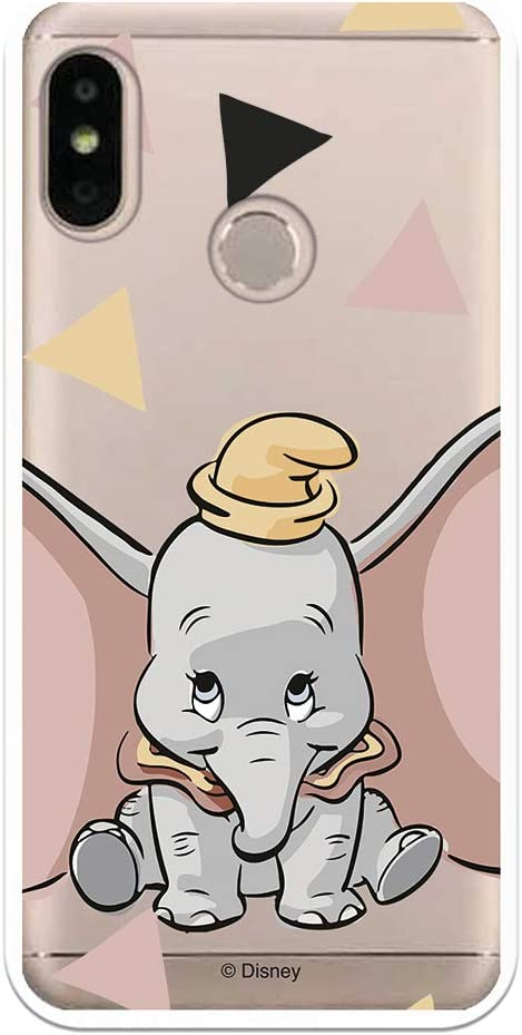 Funda para Xiaomi Mi A2 Lite - Redmi 6 Pro Oficial de Dumbo Dumbo Silueta Transparente para Proteger tu móvil. Carcasa para Xiaomi de Silicona Flexible con Licencia Oficial de Disney.