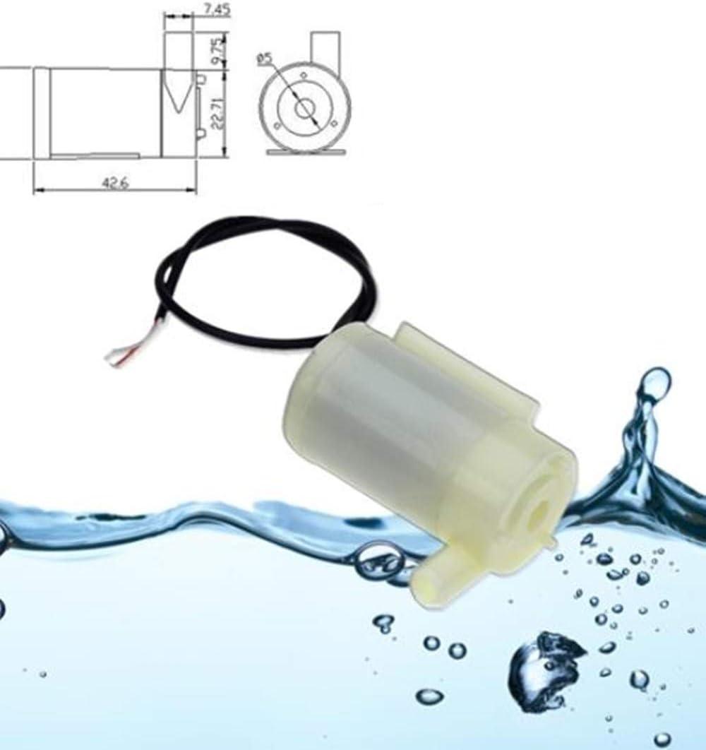 Hpybest DC 2.5-6V Low Noise Brushless Motor Pump120L//H Mini Micro Submersible Water Pump amphibious type