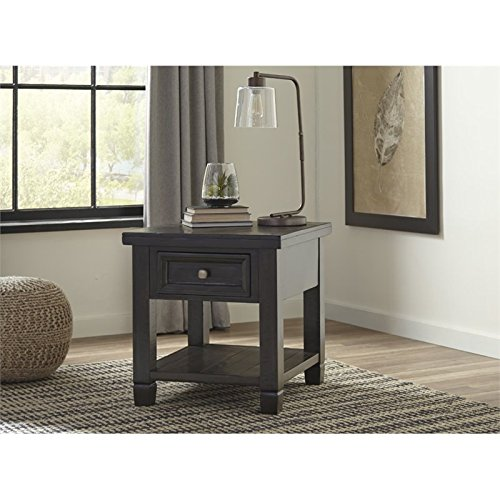 Ashley Furniture Signature Design - Townser Rectangular End Table - Traditional Side Table - Dark Brown by Signature Design by Ashley (Image #2)