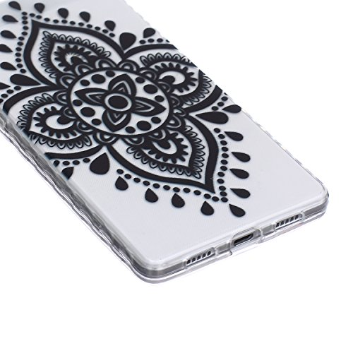 [Extremadamente Delgada] Funda 3D Silicona Transparent para Huawei P8 Lite ,Funda TPU Ultra Slim para Huawei P8 Lite , TOCASO Case Fina Slim Fit Cristal Clear, Transparent Slicona Clear Cover Glitteri Nudo Chino