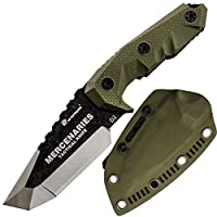 HX outdoors - Fixed Blade Tactical Knives with Sheath,Tanto Blade Outdoor Survival...